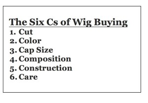 The Six Cs of Wig Buying