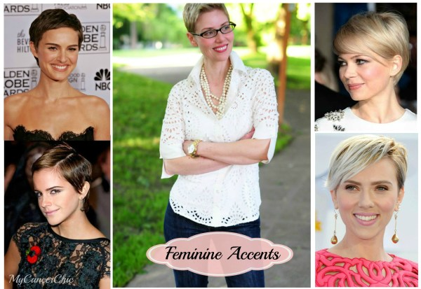 Dressing for Short Hair Feminine Accents