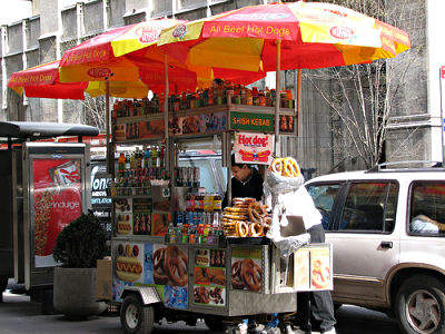 new york hot dog steet food