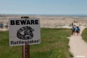 Badlands Nationalpark - Beware Rattlesnakes