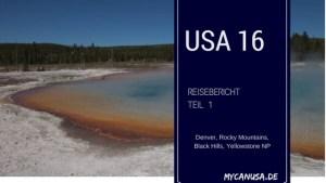 Reisebericht USA 2016 Teil 1