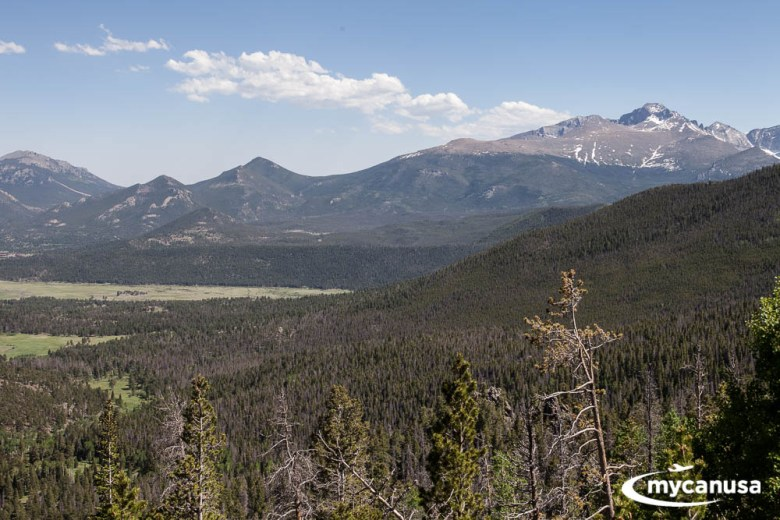 Fernblick im Rocky Mountain Nationalpark