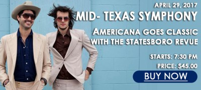 Mid-Texas Symphony: Americana Goes Classic with the Statesboro Review @ Brauntex Performing Arts Theatre | New Braunfels | Texas | United States