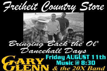 Flyer for concert at Freiheit Country Store.
