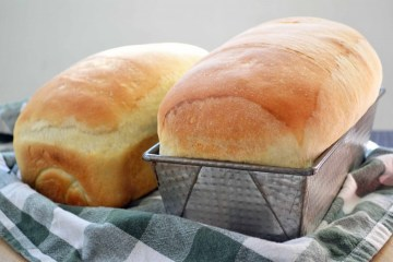 two loaves of baked bread