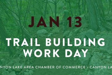 poster for trail building work day