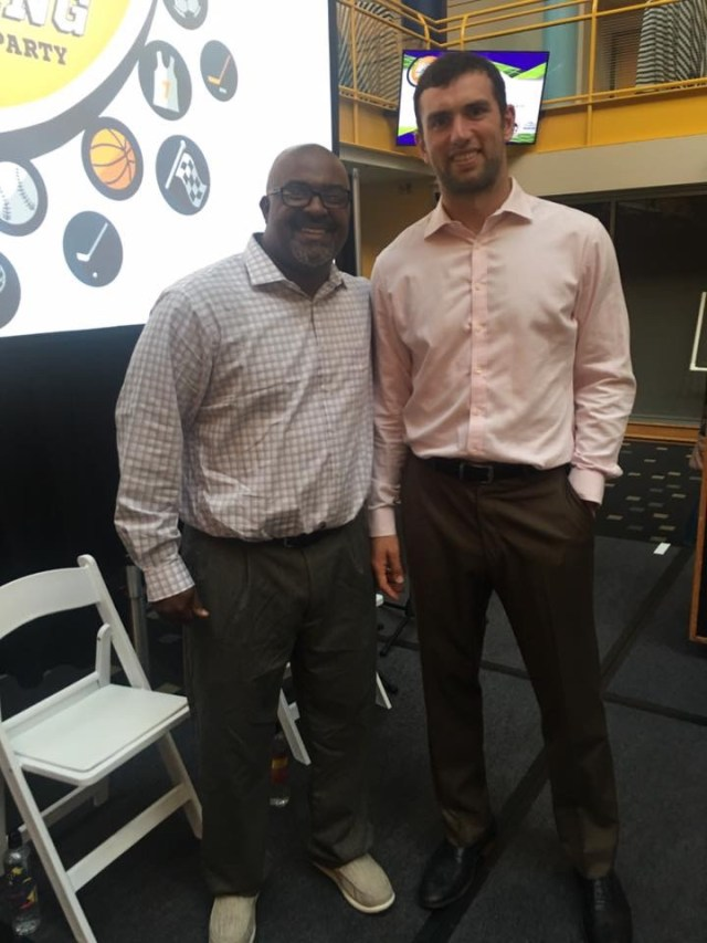 Andrew Luck at the Children's Museum of Indianapolis