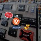 Get 10% off car audio