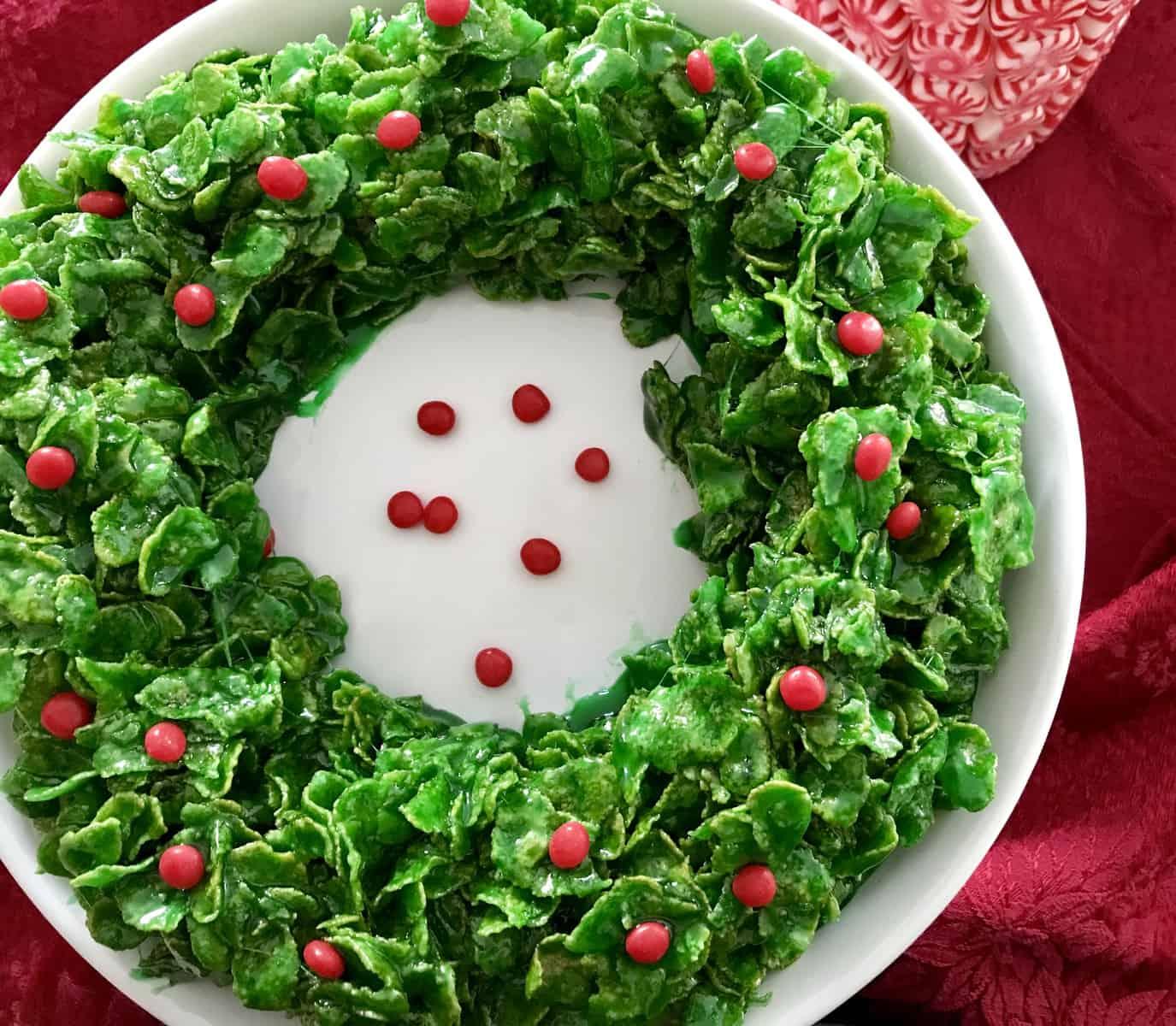 Cornflake Christmas Wreath My Casual Pantry