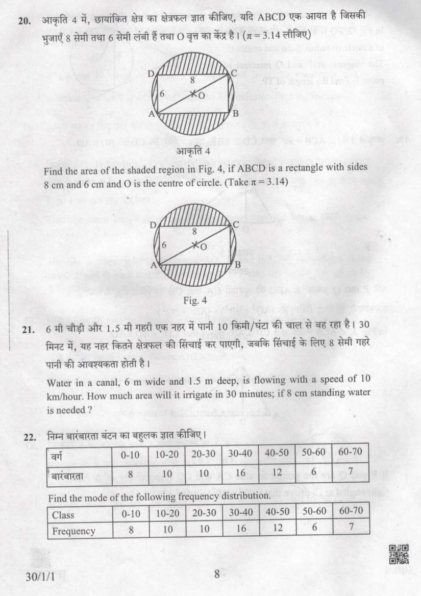 CBSE Previous Year Question Papers Class 10 Maths - Free PDF
