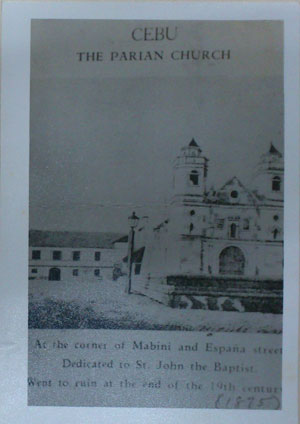 """Parian Church, according to """"Ang Sugbo sa Karaang Panahon"""", """"has never been surpassed by any other church that has been built in Cebu, such as the Cathedral, the Seminary and San Nicolas."""" (PHOTO USED WITH PERMISSION FROM THE CEBUANO STUDIES CENTER)"""