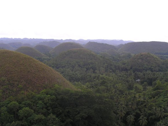 A photo of the Chocolate Hills, one of the popular Bohol attractions, taken before a 7.2 magnitude quake hit the province.
