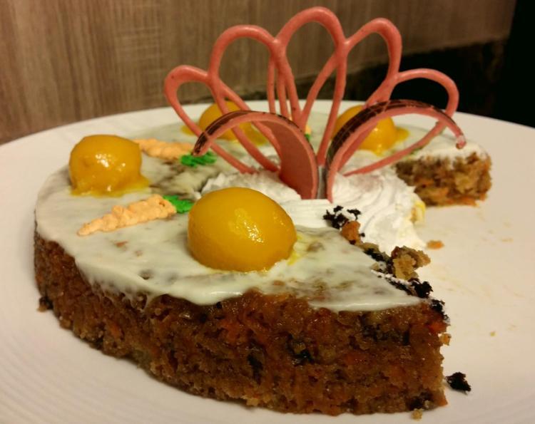 Grand Majestic buffet carrot cake