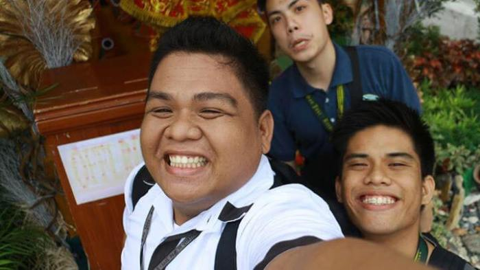 SINULOG SELFIE. The author (front) with fellow InnoPub Media interns from the University of San Jose-Recoletos.