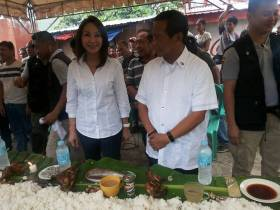 Gwen Garcia and Jejomar Binay