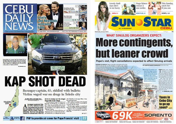 Cebu Daily News and Sun.Star Cebu