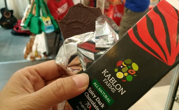 SPICY, DARK CHOCOLATE. This product by the Kablon Farms in Tupi, South Cotabato is delicious! (Photo by Max Limpag)