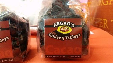 Another Argao specialty: the tableya or native chocolate.
