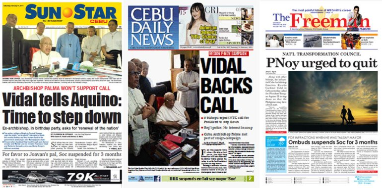Feb. 14 Cebu newspapers