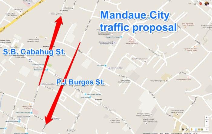 One-way traffic in Mandaue