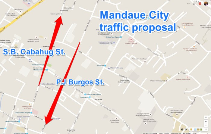 One-way traffic in Mandaue