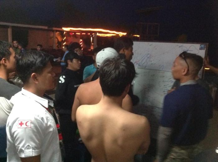 Korean divers search