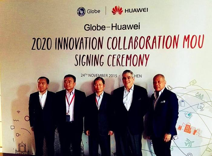 Globe Huawei agreement