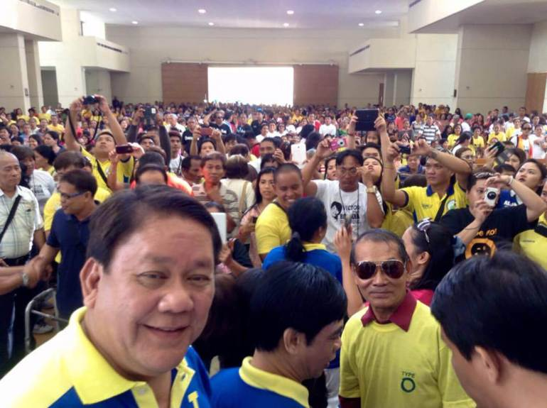 Tomas Osmeña during the BOPK proclamation rally. (Photo taken from the official Tommy Osmena FB page)