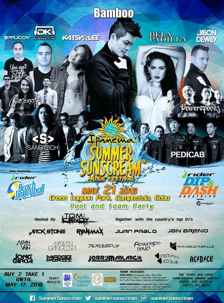Ipanema Summer Sunscream poster