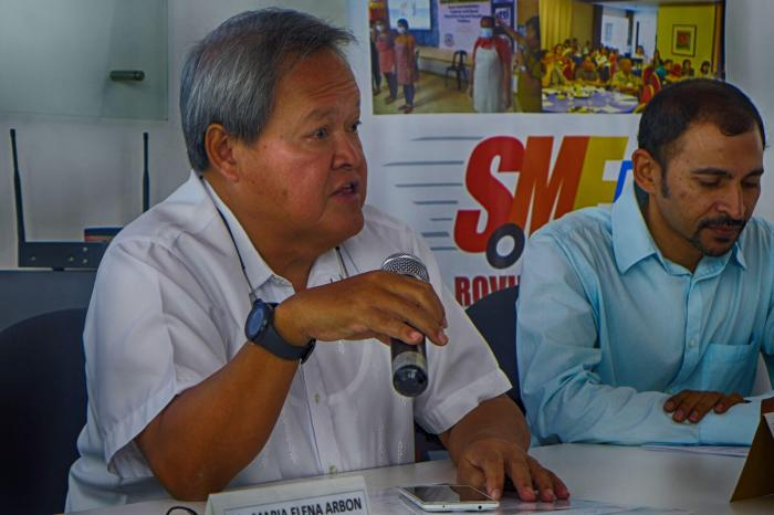 JOEL MARI YU. The former Cebu Investment Promotions Center head is back as business advisor of incoming Cebu City Mayor Tomas Osmeña. Yu is shown above with Ravi Agarwal of The Tide co-working space during the press conference for the upcoming Slingshot event in Cebu (see separate story). (Photo: MyCebu.ph)