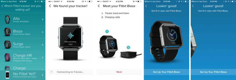 FitBit Blaze app