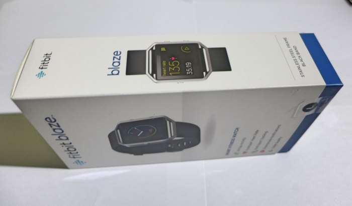 FITBIT BLAZE. The tracker can be bought from Digital Walker and Beyond The Box stores, as well as select Toby's outlets.