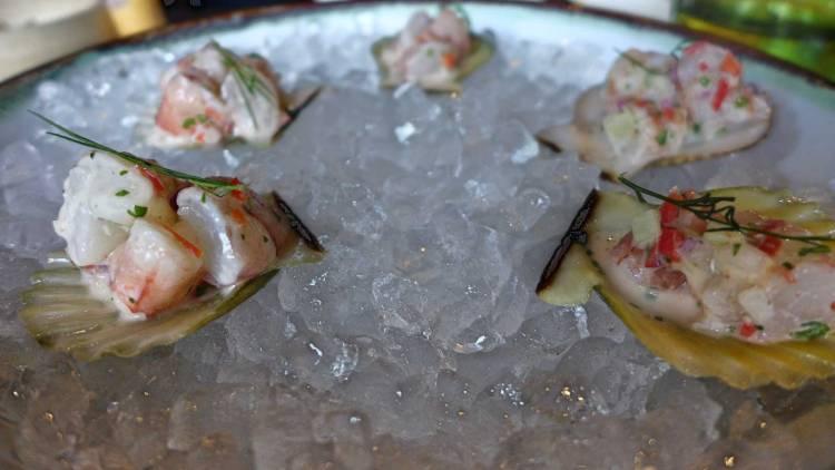 Pig and Palm Cebu shrimp kinilaw