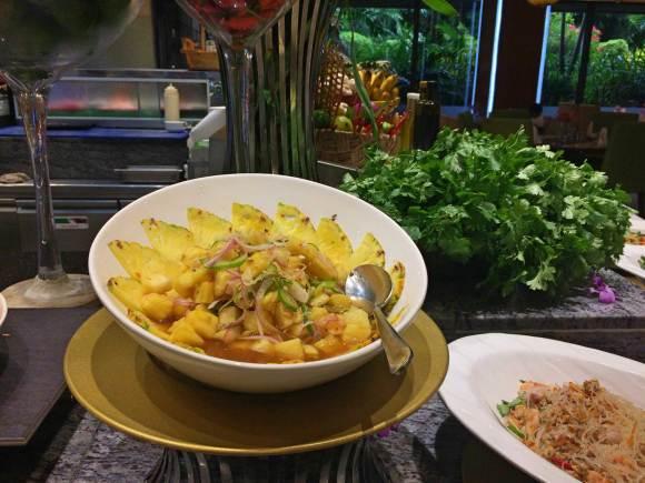 Pineapple salad.