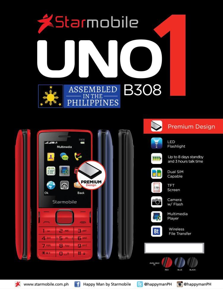 Starmobile UNO B308 PH Edition