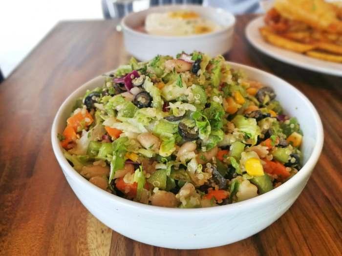 Abaca Baking Company vegetable salad