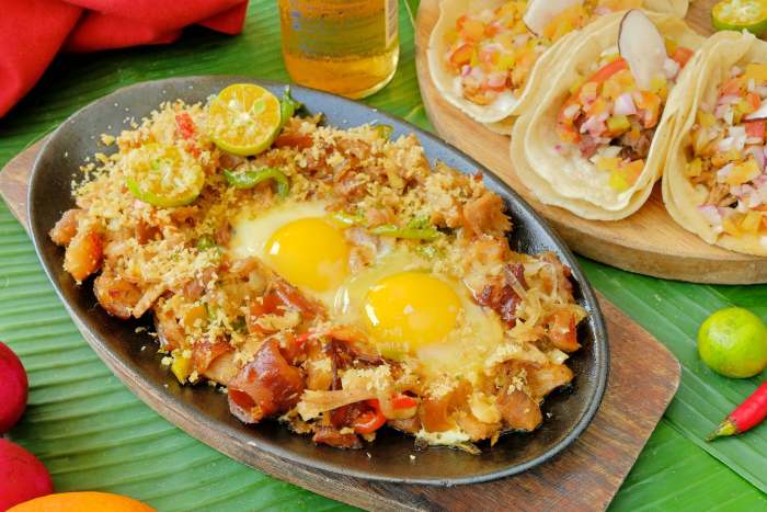 Lechon sisig by KKB Seafood.