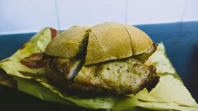Pork chop bun Macau