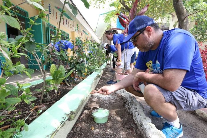 BRIGADA ESKWELA 2019. A total of 160 Visayan Electric Kaibigans, led by Chief Operating Officer Anton Mari G. Perdices, volunteered during the 2019 Brigada Eskwela at the Suba Elementary School in Liloan last May 25.