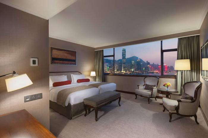 Marco Polo Hong Kong Harbour View room.
