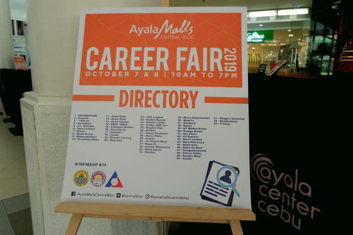Ayala Malls Central Bloc jobs fair