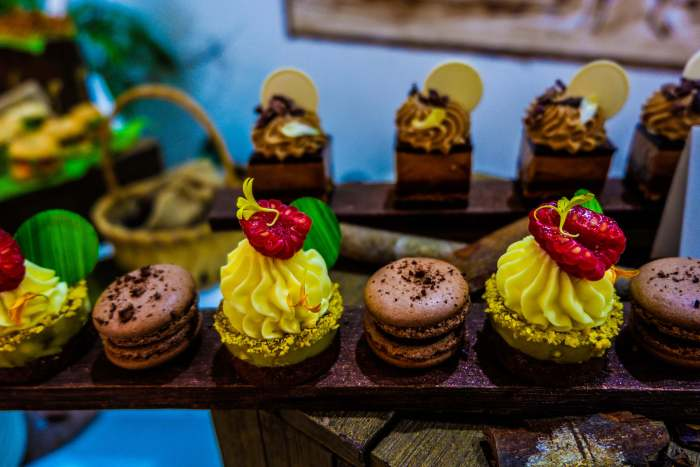 Chocolate treats like these raspberry tarts are available in Shangri-La's Mactan Resort and Spa in partnership with The Chocolate Chamber.