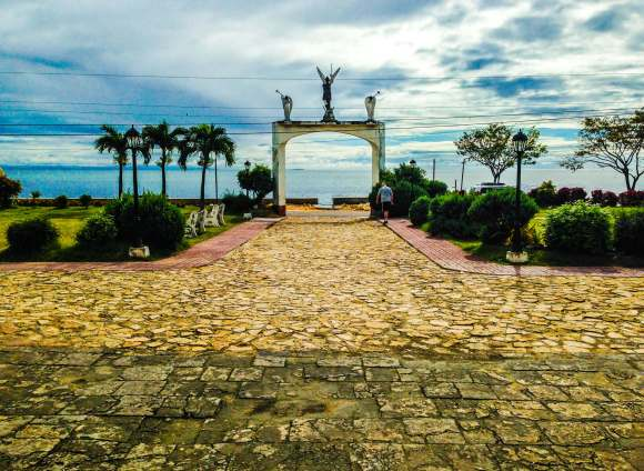 Looking out to sea from the church in Boljoon. The area used to be fortified and was the center of Fr. Julian Bermejo's defensive network of watchtowers against raiders from Mindanao.
