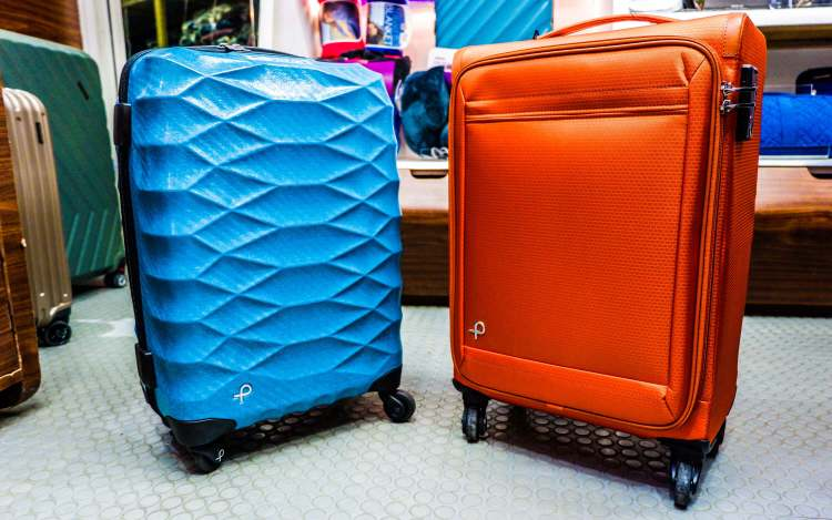 PROTECA. The Japanese luggage brand is known for its durability and lightweight. You could lift these two luggage with your pinkie finger – it is that light.