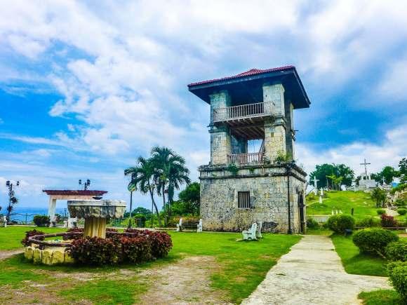 SAMBOAN. The watchtower in Samboan, near the San Miguel Arcangel parish church in the town center.