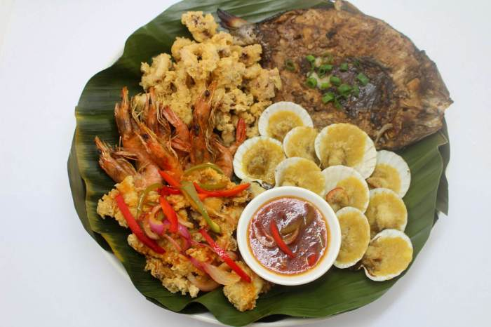 Hukad and Golden Cowrie Bilao Meal