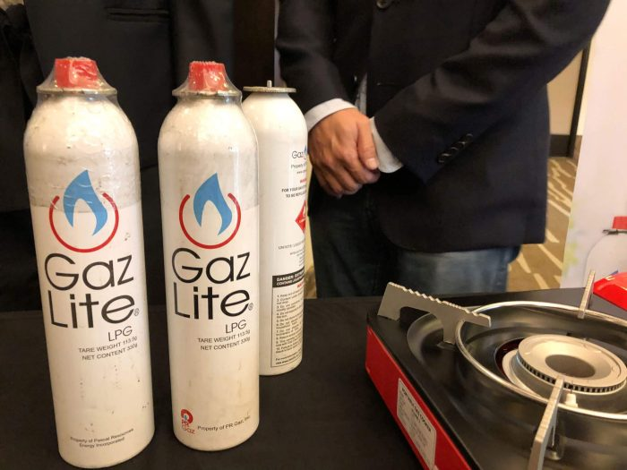 WIDE DISTRIBUTION. Gaz Lite canisters will be distributed in various retail outlets including neighborhood sari-sari stores.