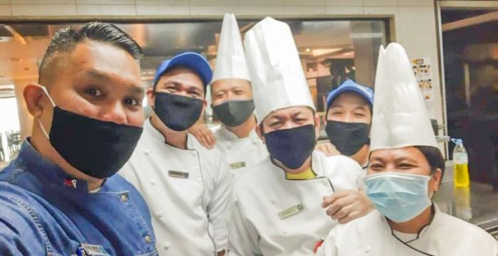 Chef June Fernandez and his team in Cebu Parklane International Hotel.