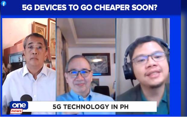 """NEW GENERATION OF SERVICES. 5G will """"is a platform that enables new technologies such as artificial intelligence, internet of things, cloud computing and other digital services, that when combined, will not only enhance existing services, but also make possible a new generation of wireless services,"""" said Ramon R. Isberto (center), PLDT-Smart Public Affairs Head and First Vice President. Isberto and Lloyd Manaloto, Vice President for Corporate Marketing and Strategy at Smart (right), were interviewed by Cito Beltran's Agenda on One News."""