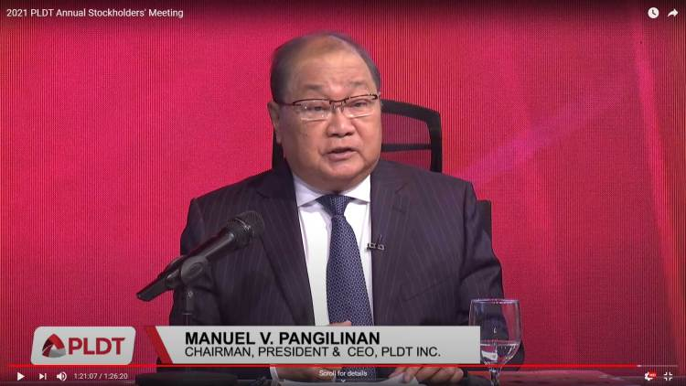 MVP. Manuel V. Pangilinan stepped down as PLDT President and CEO. He stays on as PLDT chairman.